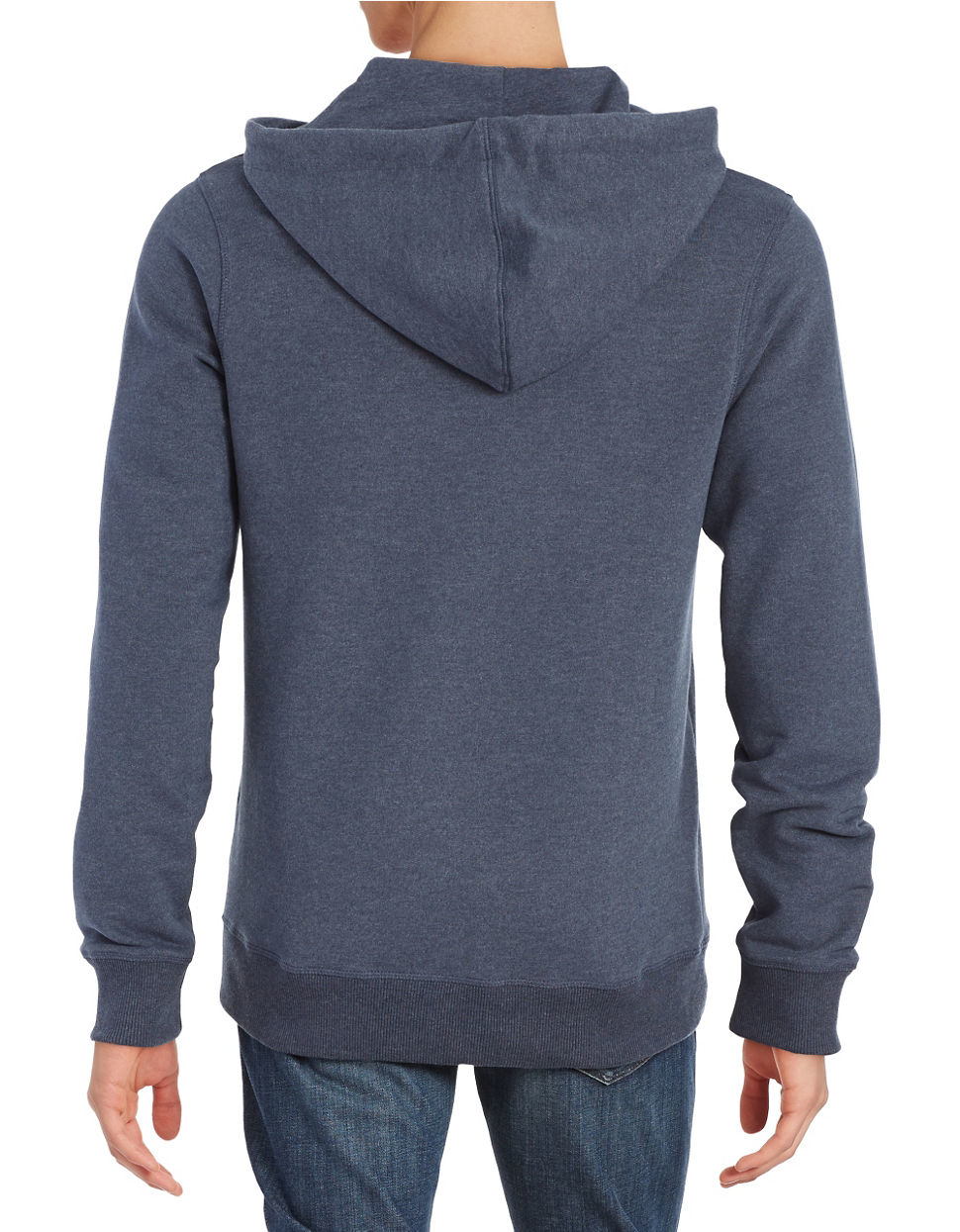 Bench Logo Hoodie In Gray For Men Lyst