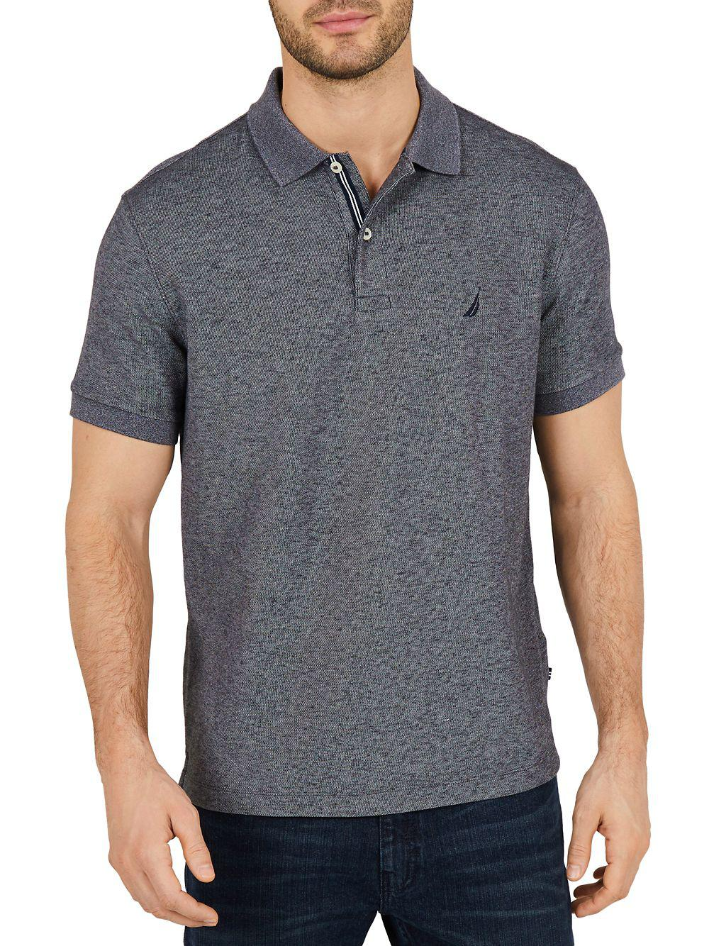 Lyst Nautica Classic Fit Moisture Wicking Polo Shirt In Gray For Men
