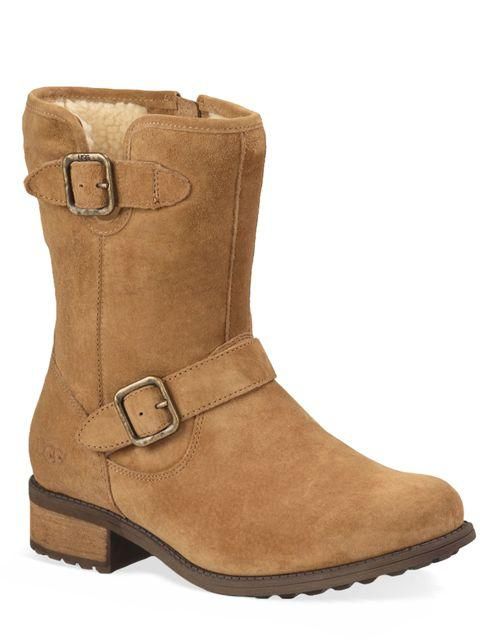 fa20ca196d3 Lyst - UGG Chaney Suede & Pure Moto Boots in Brown