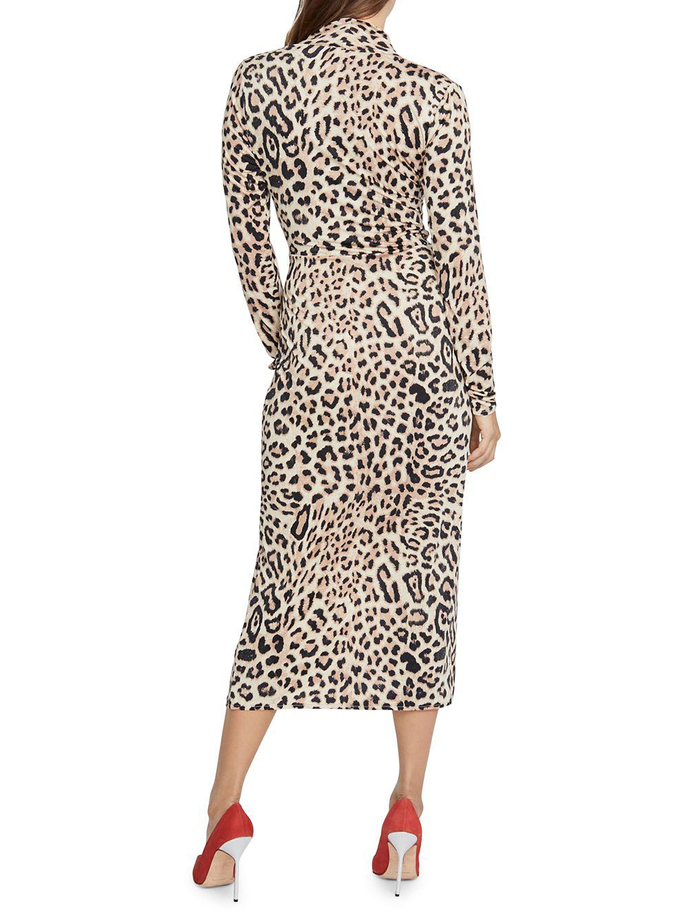 Rachel Rachel Roy Bret Leopard Jersey Wrap Dress In Black