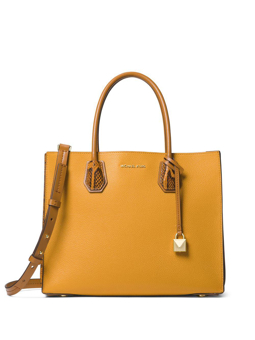 MICHAEL Michael Kors. Women s Yellow Mercer Large Accordion Leather Tote f0cd95081