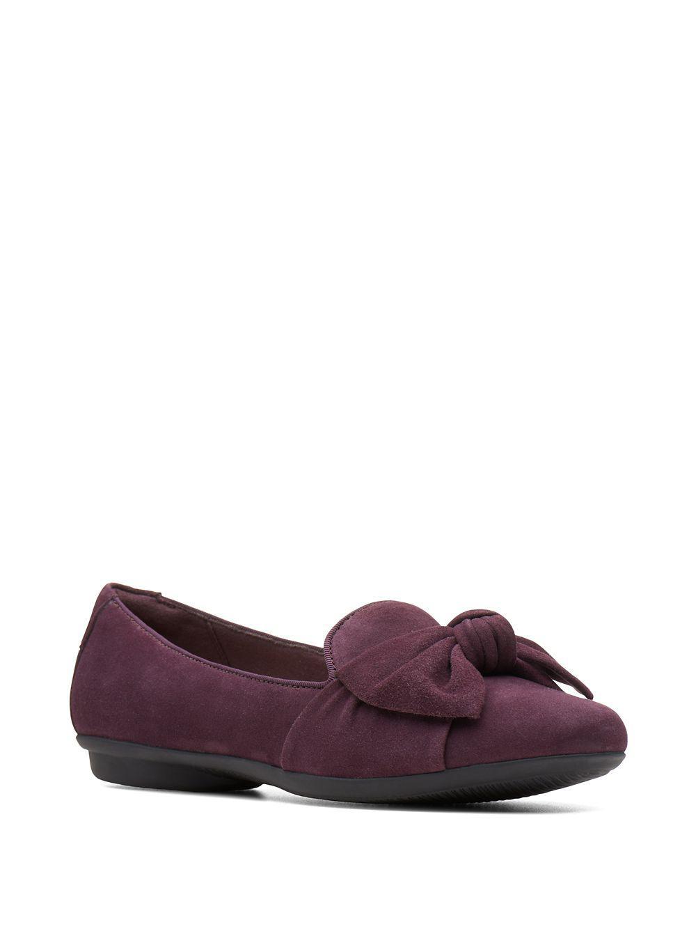 783d1b2ba63f Lyst - Clarks Gracelin Jonas Suede Ballet Flats in Purple