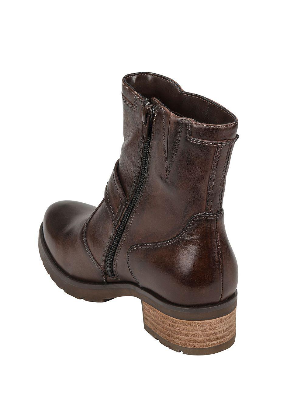9dbbda2aa70 Earth Drumlin Leather Booties in Brown - Lyst