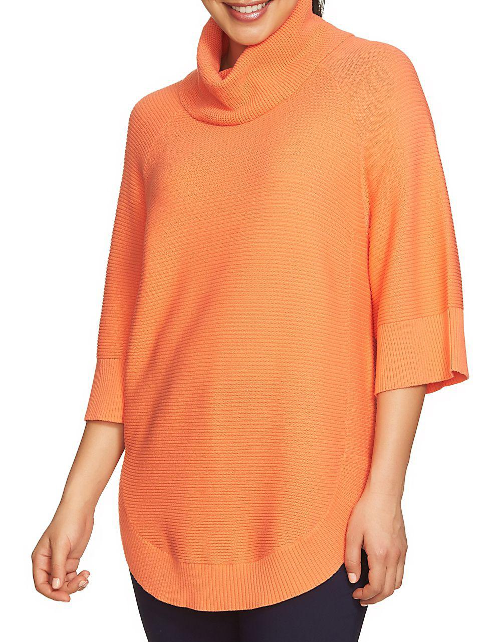 Lyst Chaus Dolman Sleeve Cowl Neck Sweater In Orange