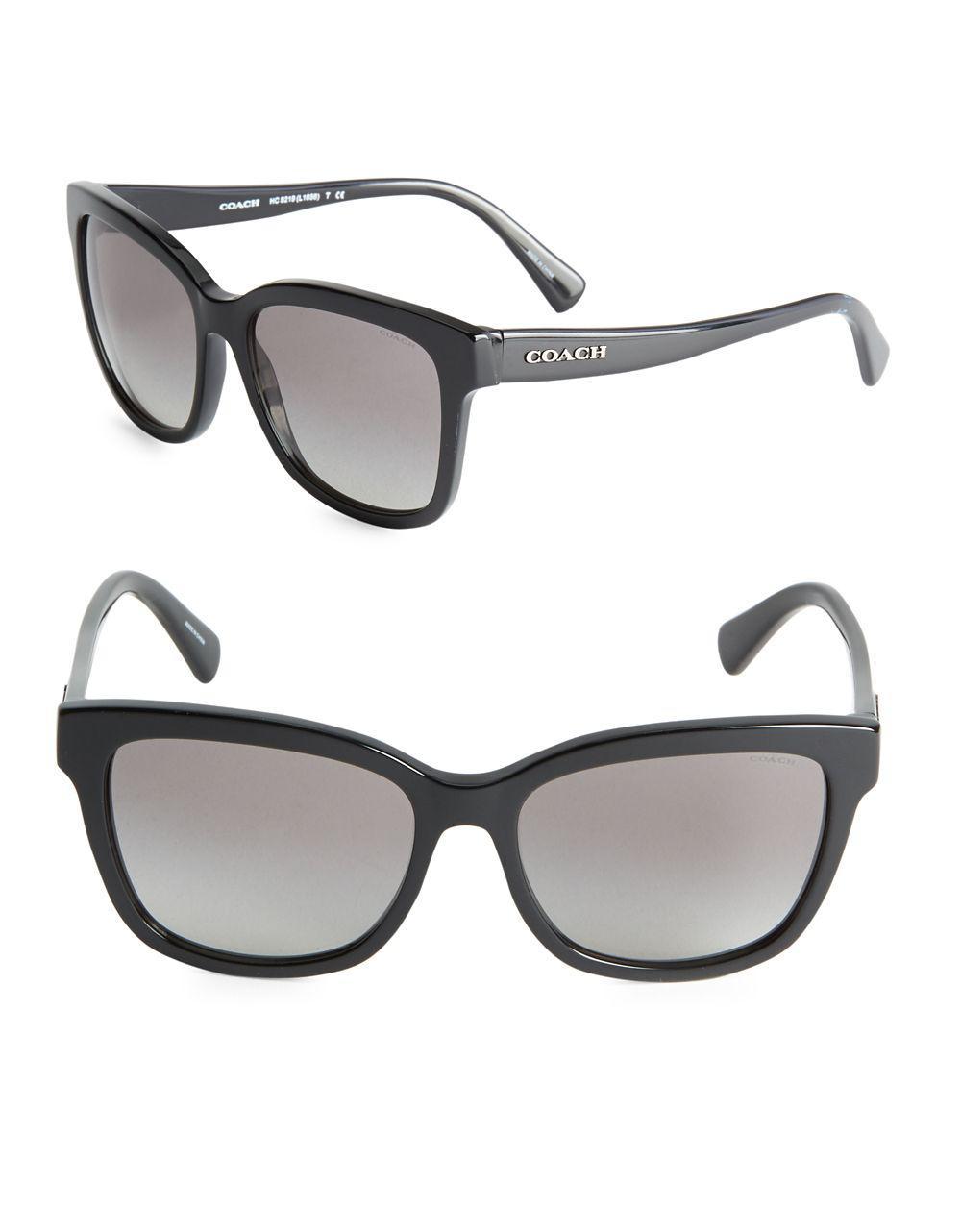 e49c17c05123 COACH 56mm Wayfarer Sunglasses in Black - Lyst
