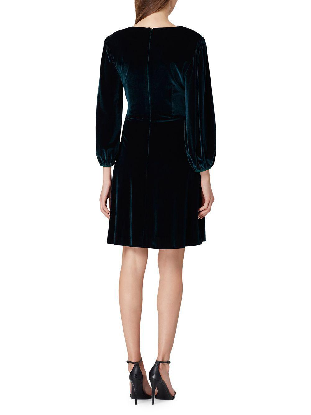 049c816f Tahari - Black Stretch Velvet Faux-wrap Dress - Lyst. View fullscreen