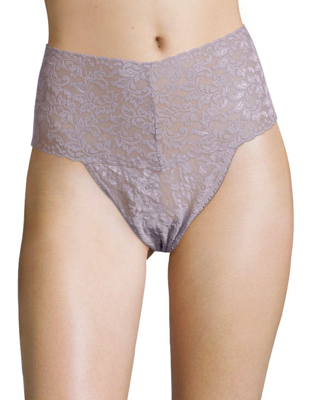 cb590b454d9 Lyst - Hanky Panky Plus Size Retro Lace V-kini Thong in Purple