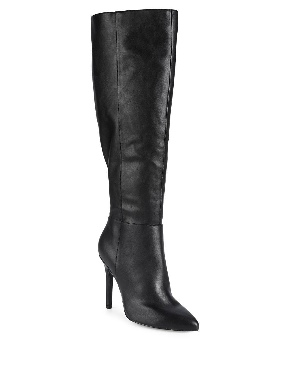 6ff6ab998db Lyst - Charles David Dallen Point Toe Tall Boots in Black