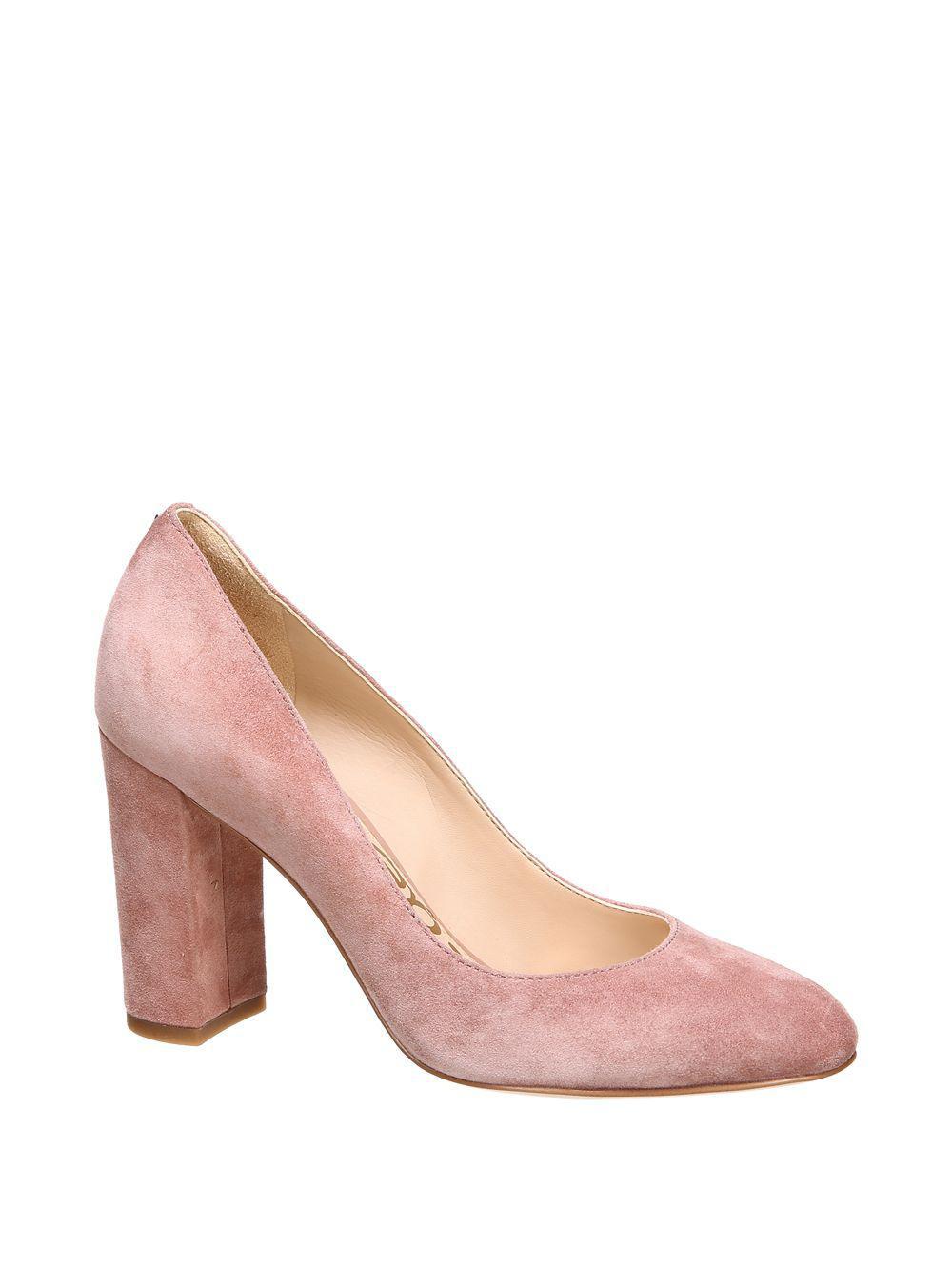 960a50f5f513f4 Lyst - Sam Edelman Stillson Suede Pumps in Pink