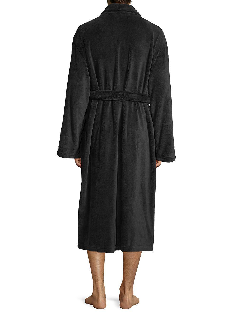 56fada5a05 Polo Ralph Lauren Cotton Fleece Robe in Black for Men - Lyst