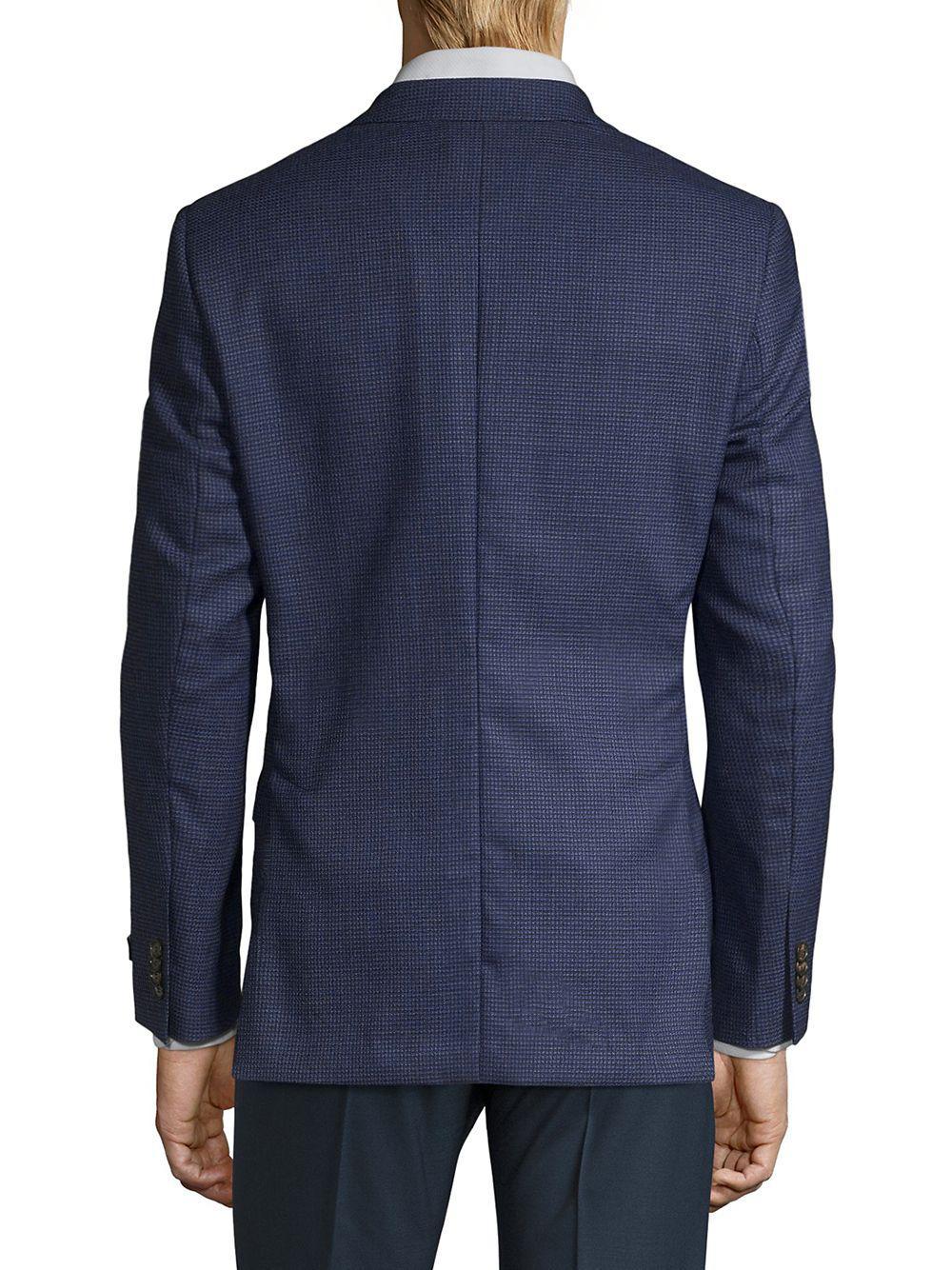 1894eb713 Ted Baker - Blue Modern-fit Joey X Sportcoat for Men - Lyst. View fullscreen