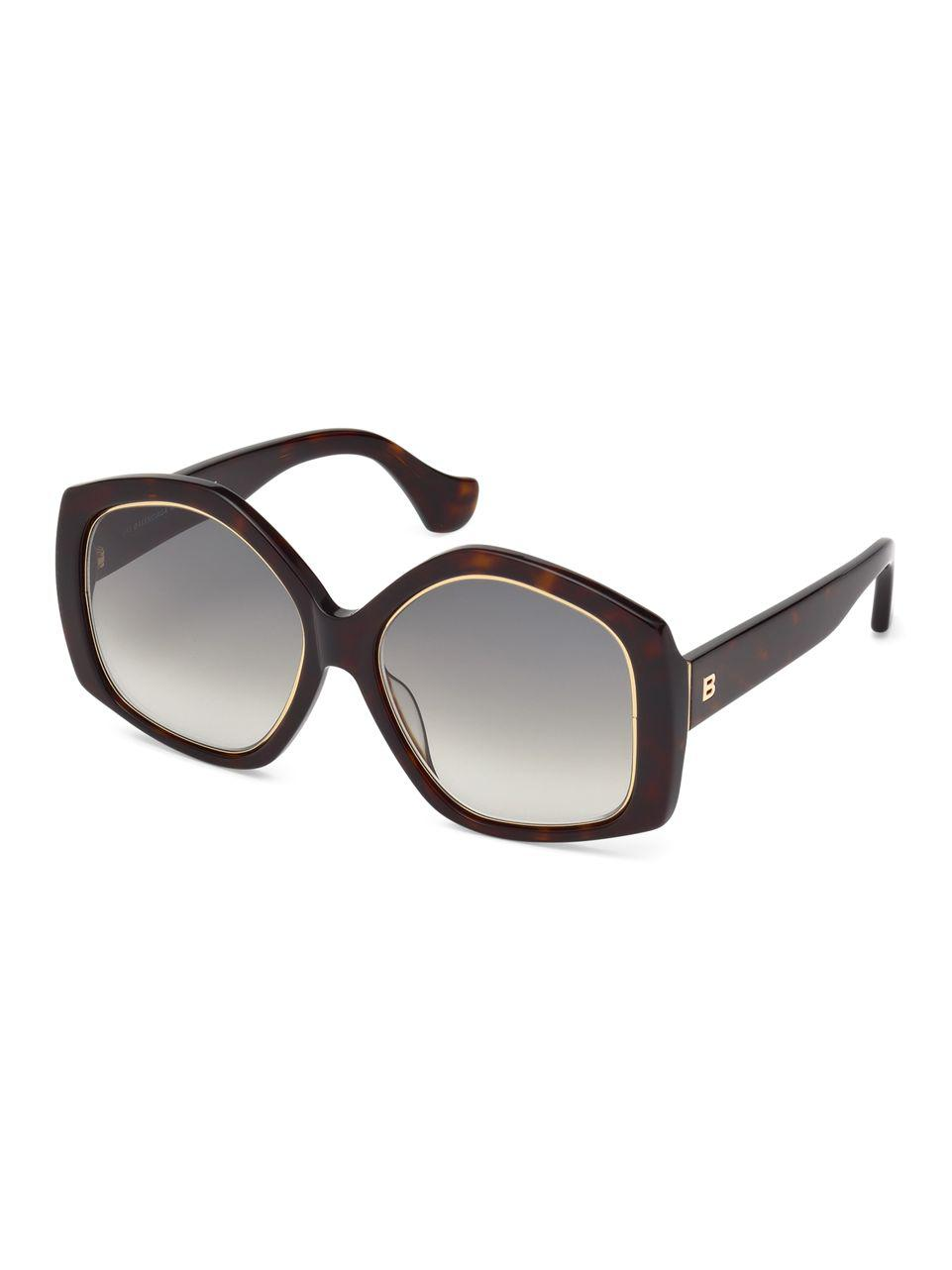 5d64c279365 Lyst - Balenciaga 55mm Butterfly Sunglasses in Brown