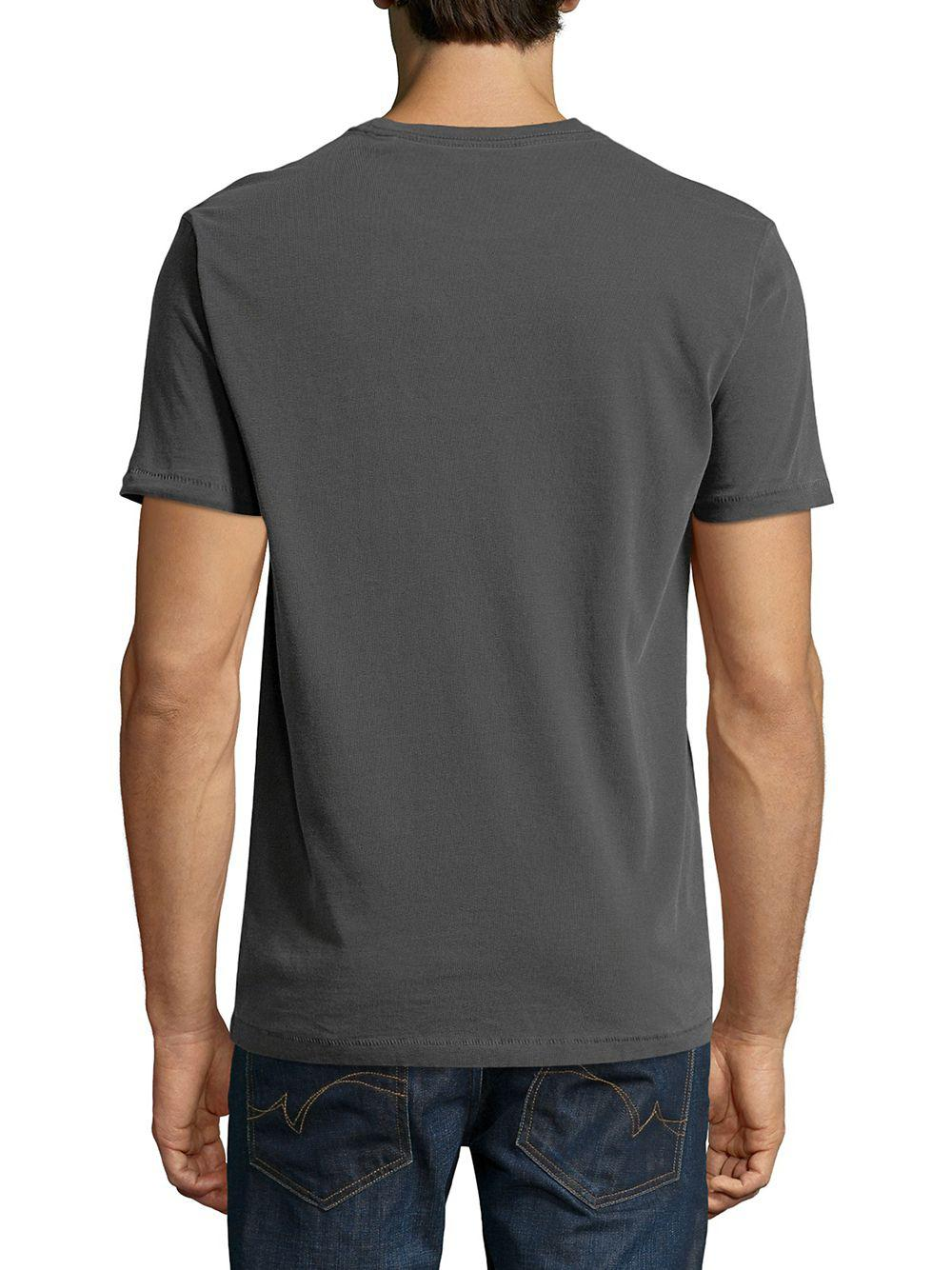b8168a7047ea5 Lyst - Lucky Brand Patch Cotton Tee in Black for Men - Save ...