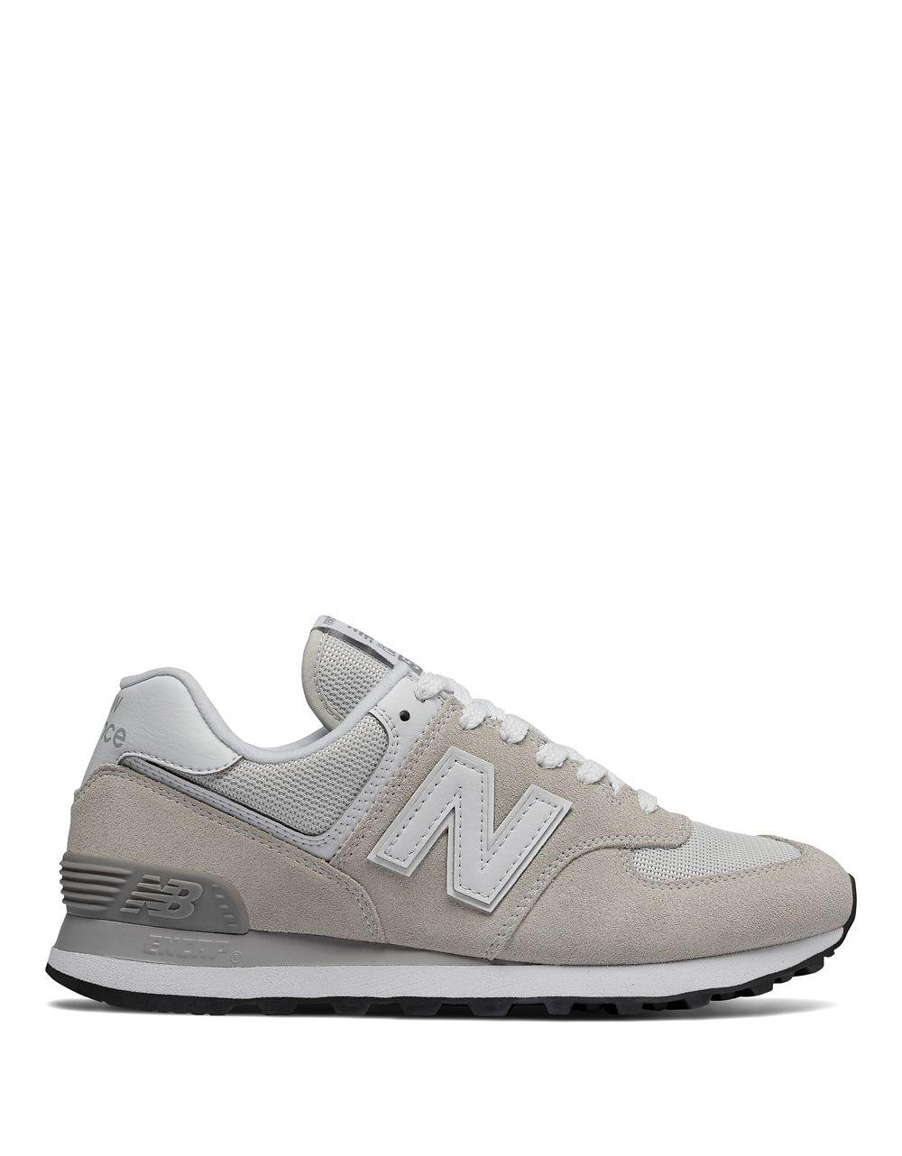 New Balance W574 Logo Suede Low Top Sneakers C0WLQKHC