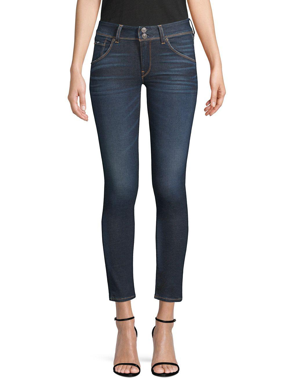 9a2a5c7445c Hudson Jeans Collin Skinny Jeans in Blue - Lyst