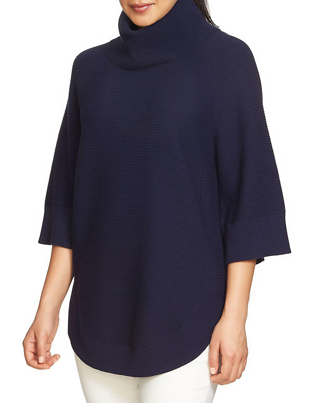 Chaus Dolman Sleeve Cowl Neck Sweater in Blue   Lyst