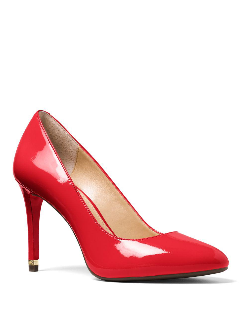 14b300bac2b4 Lyst - Michael Michael Kors Ashby Patent-leather Pumps in Red