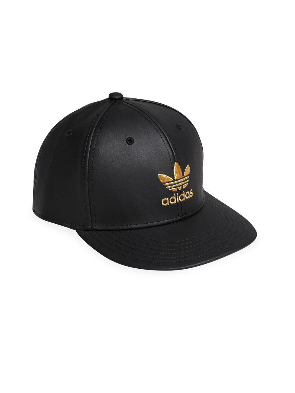 05dfed5649fdc8 adidas Originals Trefoil Mixed Baseball Cap in Black for Men - Lyst
