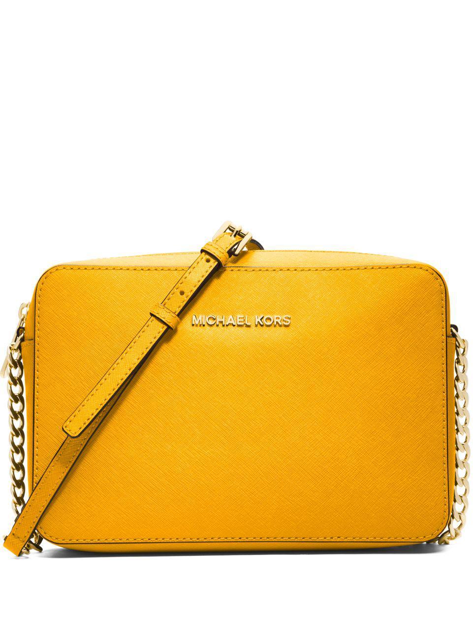 f73362119ac3 Lyst - Michael Michael Kors Saffiano Leather Crossbody Bag .