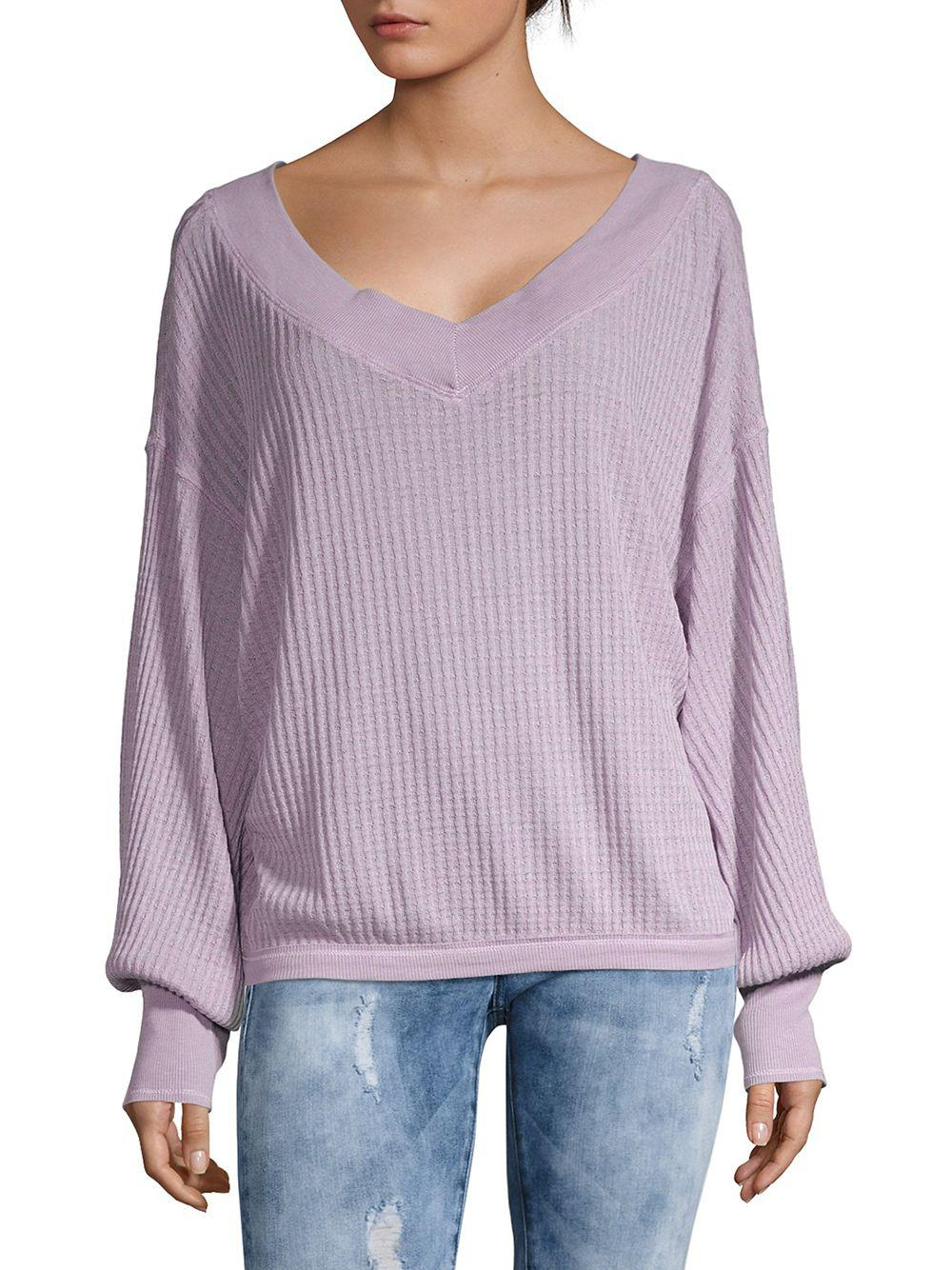 Free South In Purple People Pullover Side Thermal Lyst vnO0wymN8