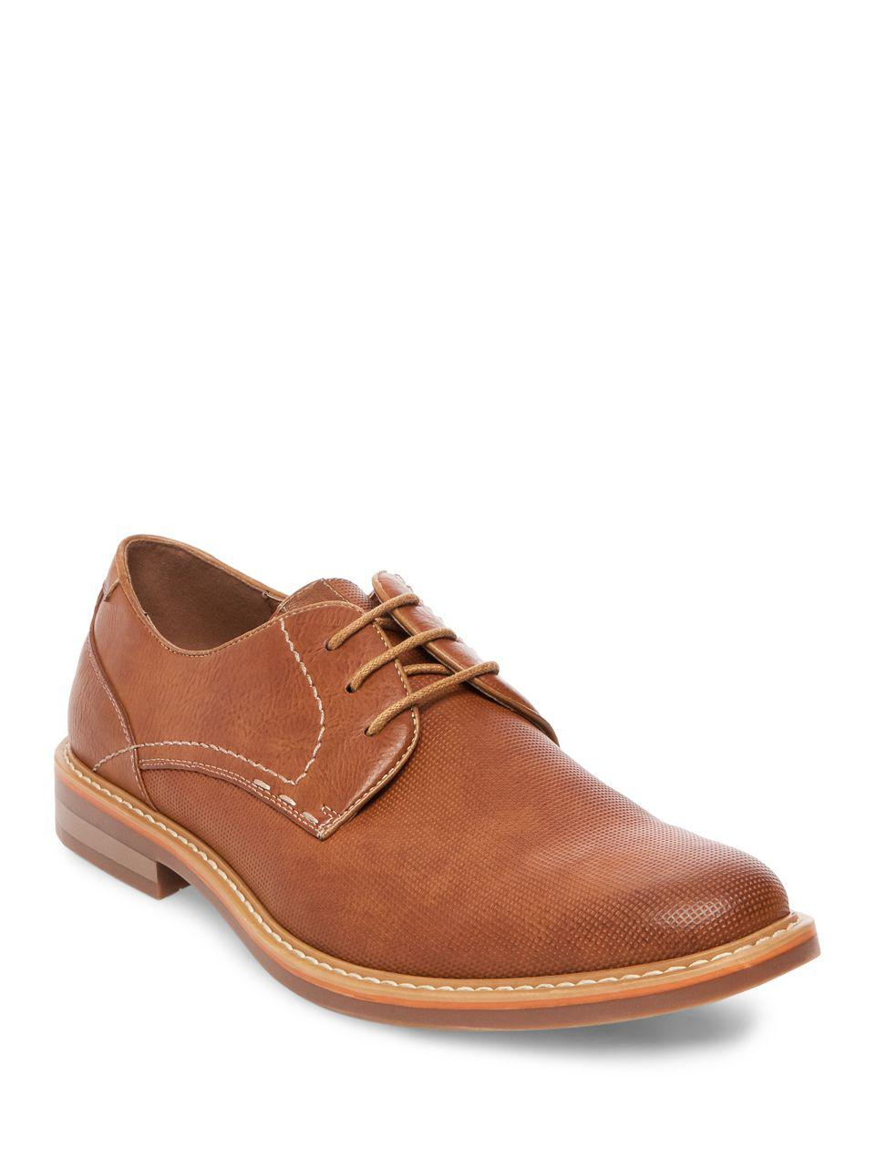 Steve Madden. Men's Brown Olivyr Plain-toe Oxfords