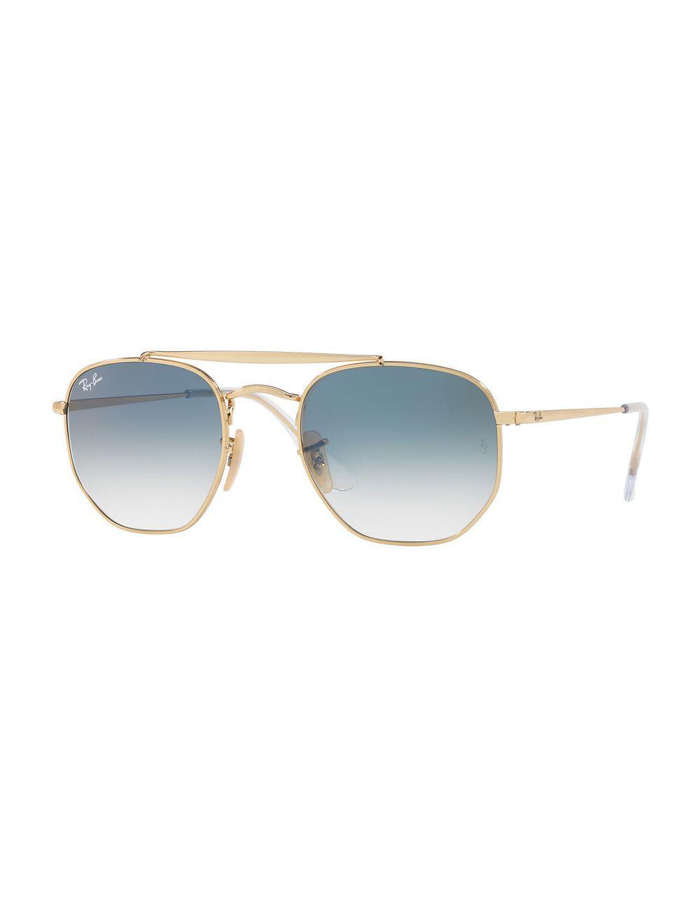 6080836e00 Lyst - Ray-Ban 51mm Square Sunglasses in Blue