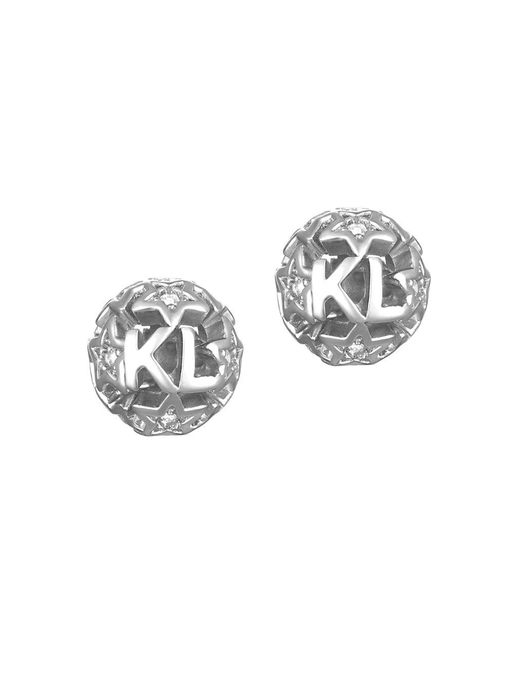 Karl Lagerfeld Women S Metallic Star Ball Swarovski Crystal And Earrings