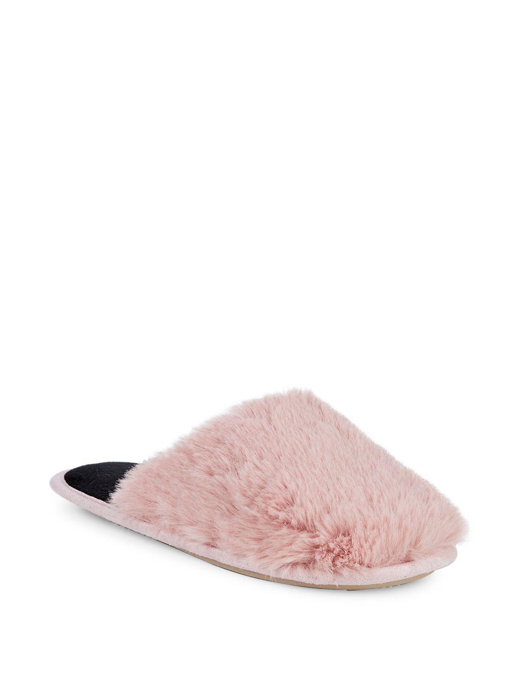 0f564af2d788 Kensie Classic Faux Fur Slippers in Pink - Lyst