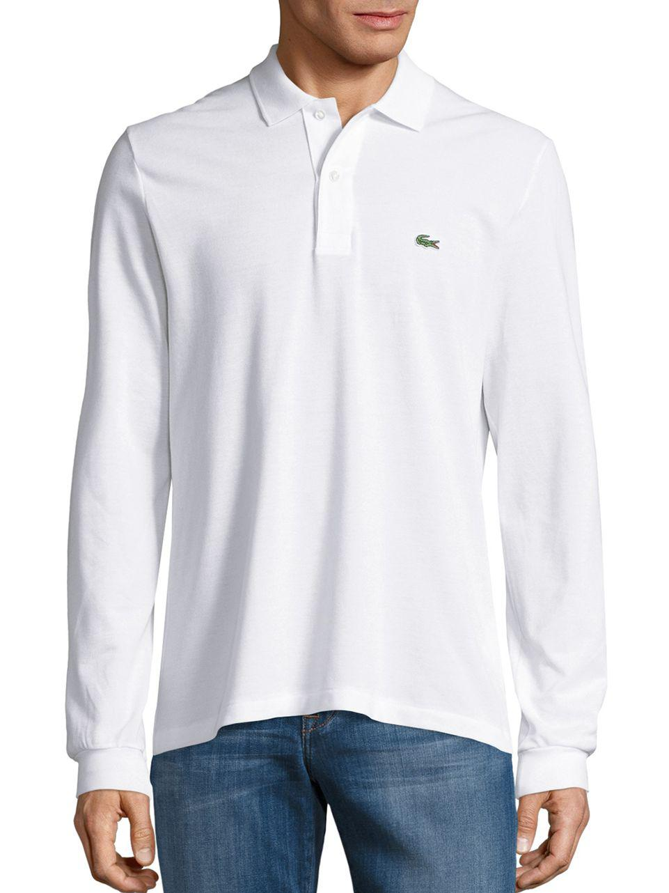 Lacoste. Men's White Pique Polo Shirt