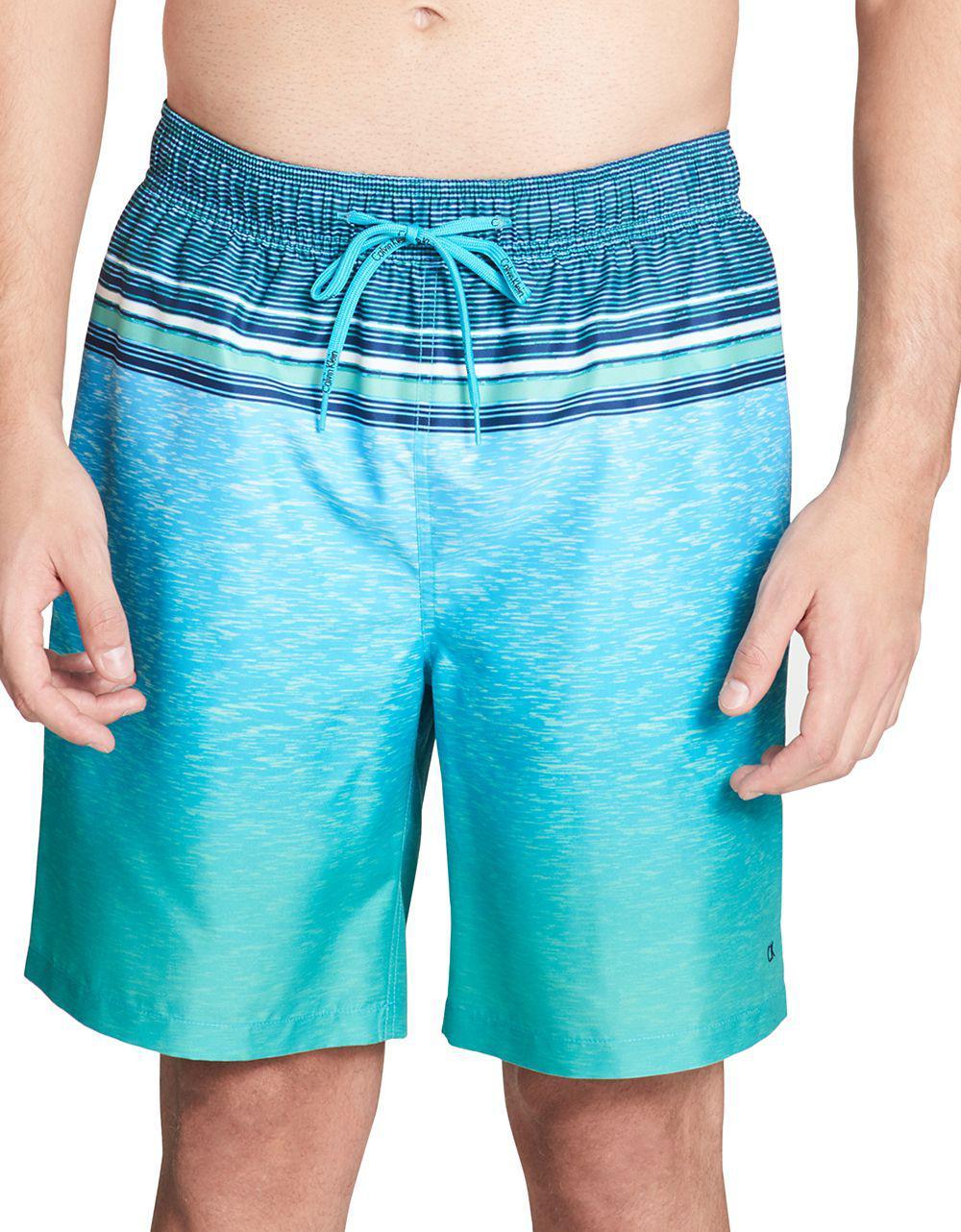 f160469846652c Lyst - Calvin Klein 205W39Nyc Graphic Swim Shorts in Blue for Men