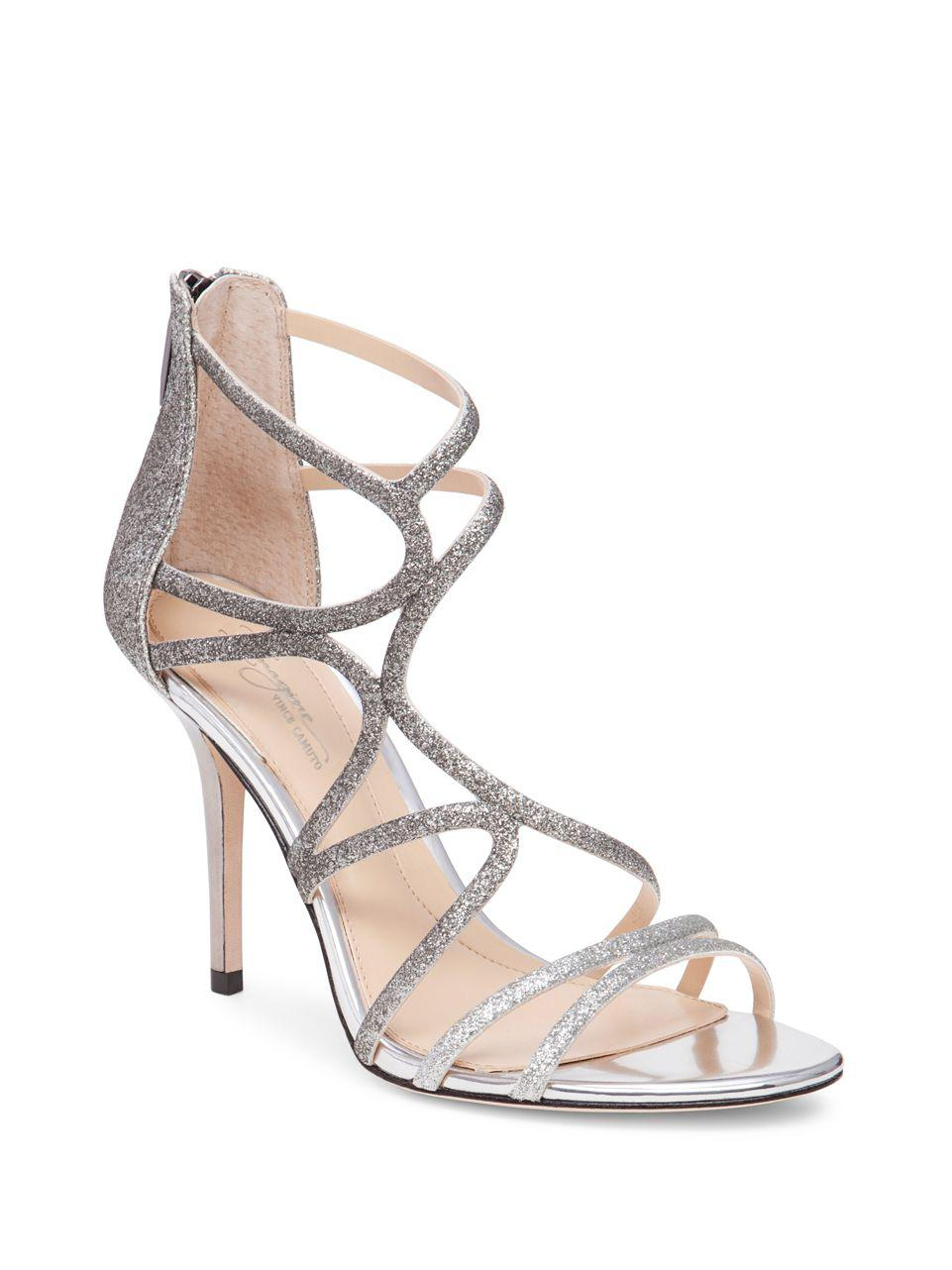 84af67e0619 Imagine Vince Camuto Ranee Glitter Sandals in Metallic - Lyst