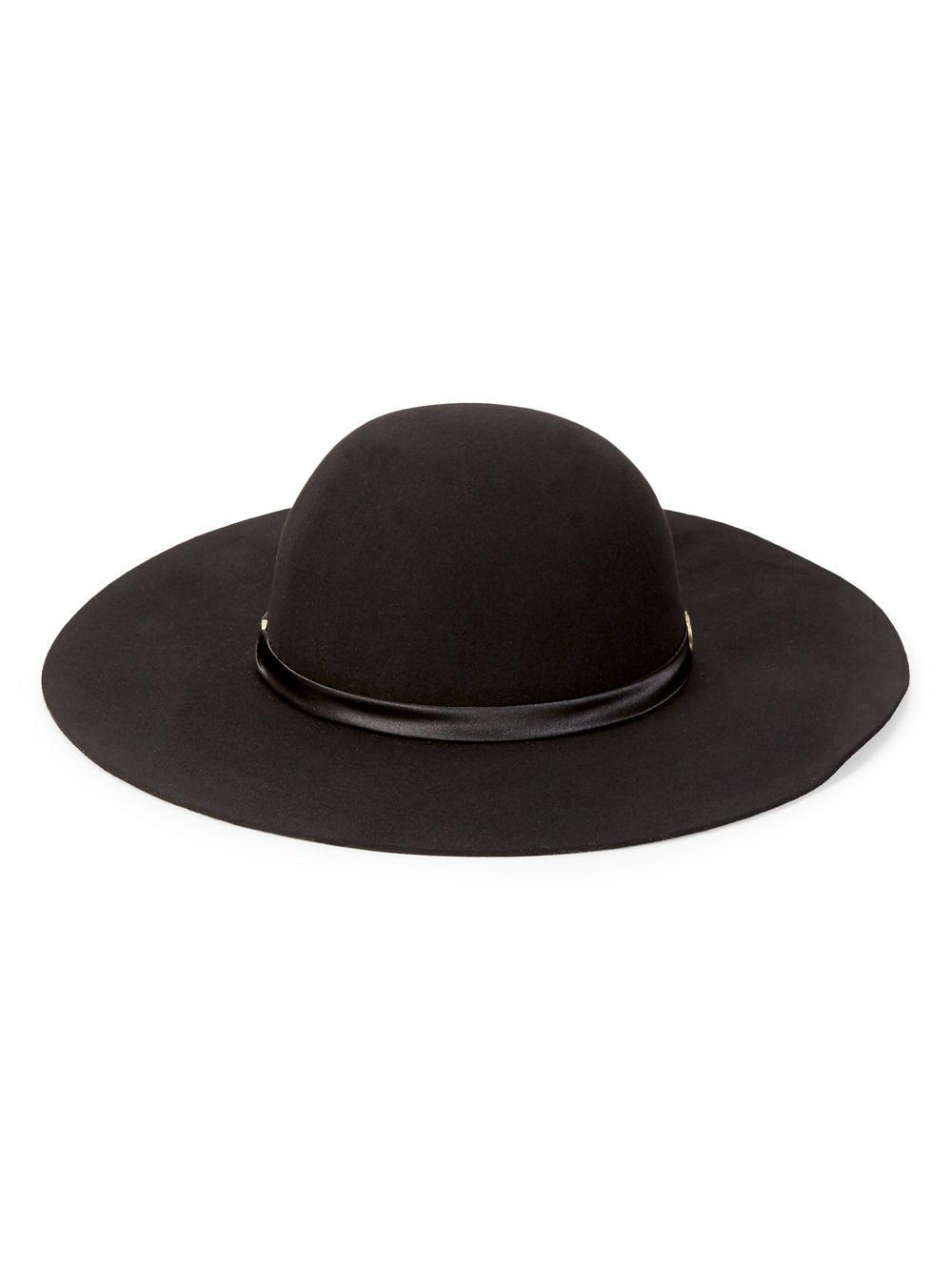 0527ae9dbe4 Lyst - Vince Camuto Floppy Wool Hat in Black