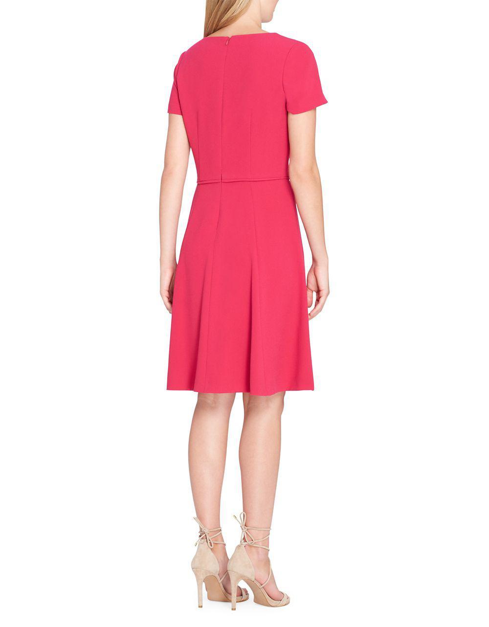 03d49ac0b1f0 Lyst - Tahari Pleated Fit-&-flare Dress in Pink