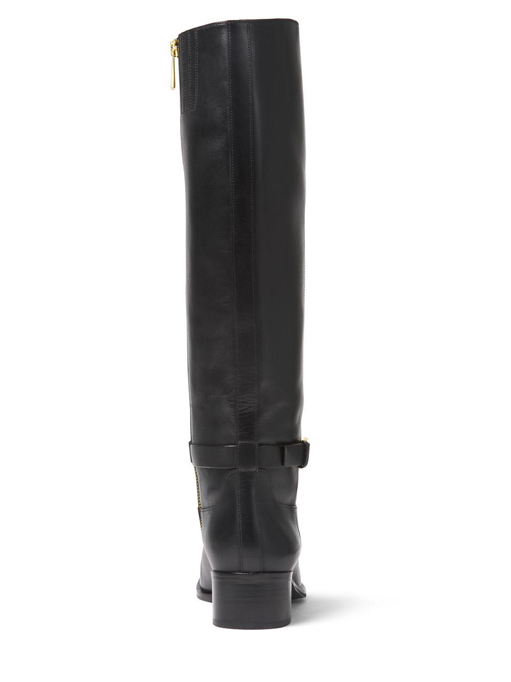 9a9b25cb21f4 Lyst - MICHAEL Michael Kors Heather Tall Leather Boots in Black