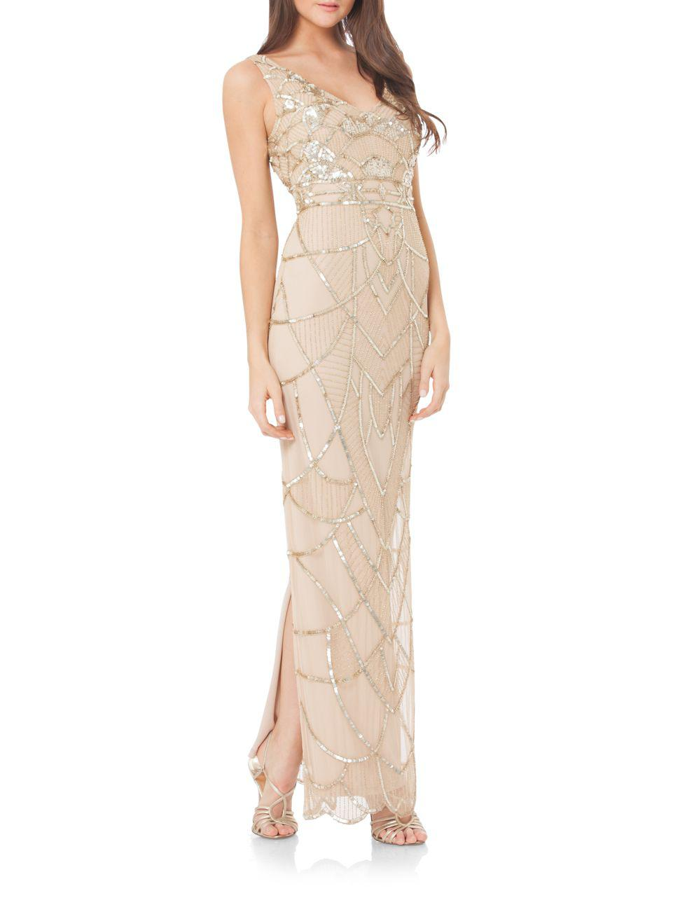 Lyst - Js Collections Sequin Accented Gown