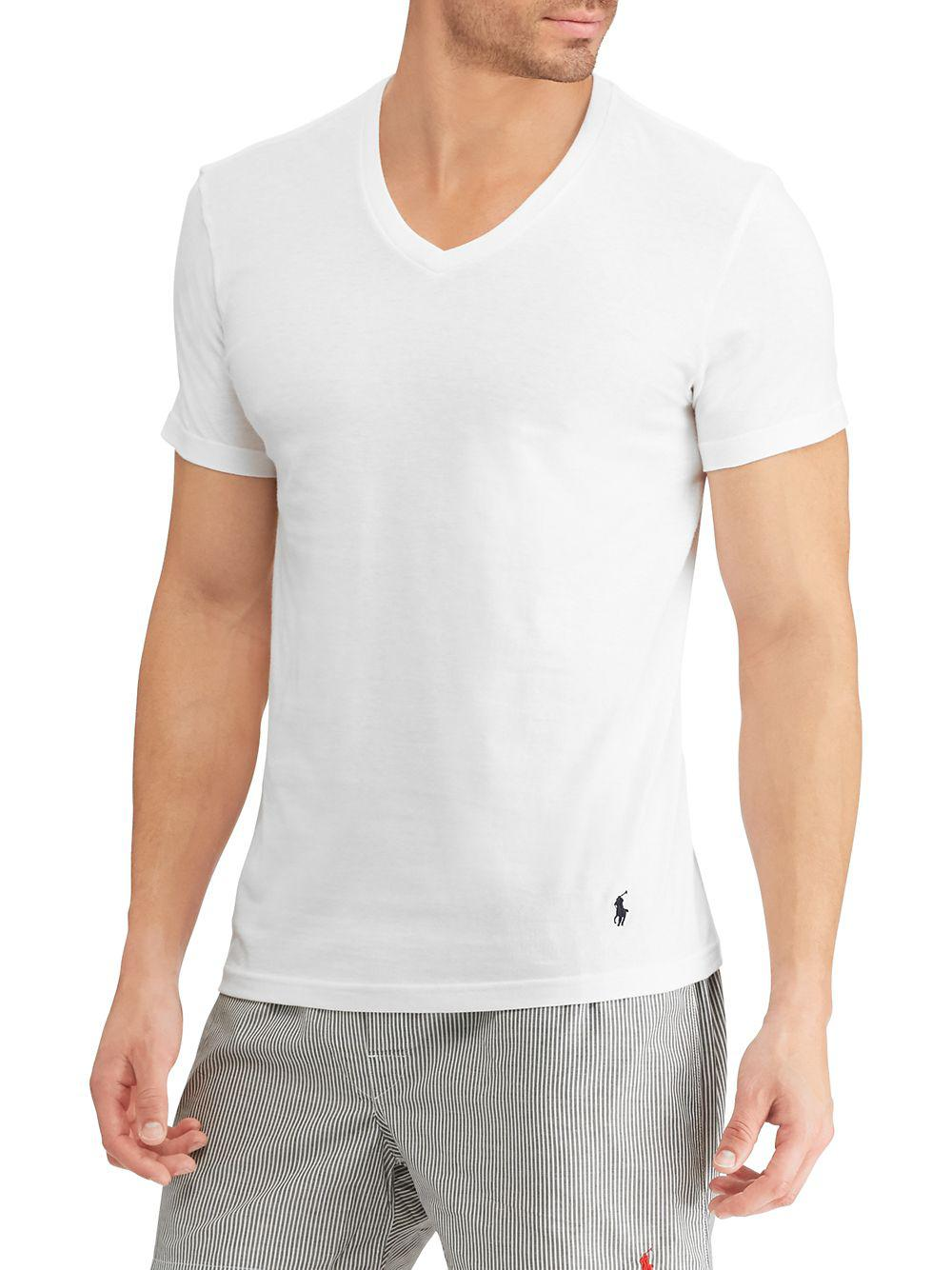 8eff5831e Polo Ralph Lauren. Men s White Pack Of Five Classic-fit V-neck Cotton Tee
