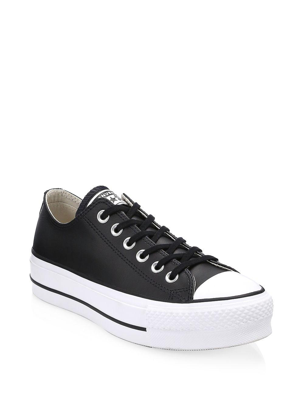 91410e388192 Lyst - Converse Lift Leather Platform Sneakers in Black for Men
