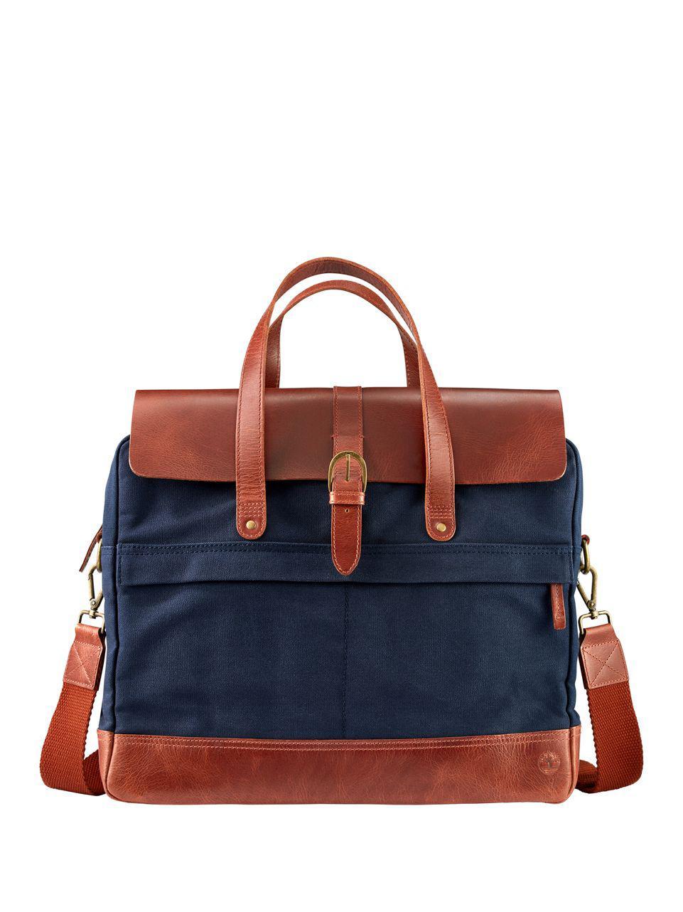 f7b86b29ffe Timberland Nantasket Briefcase in Blue for Men - Lyst
