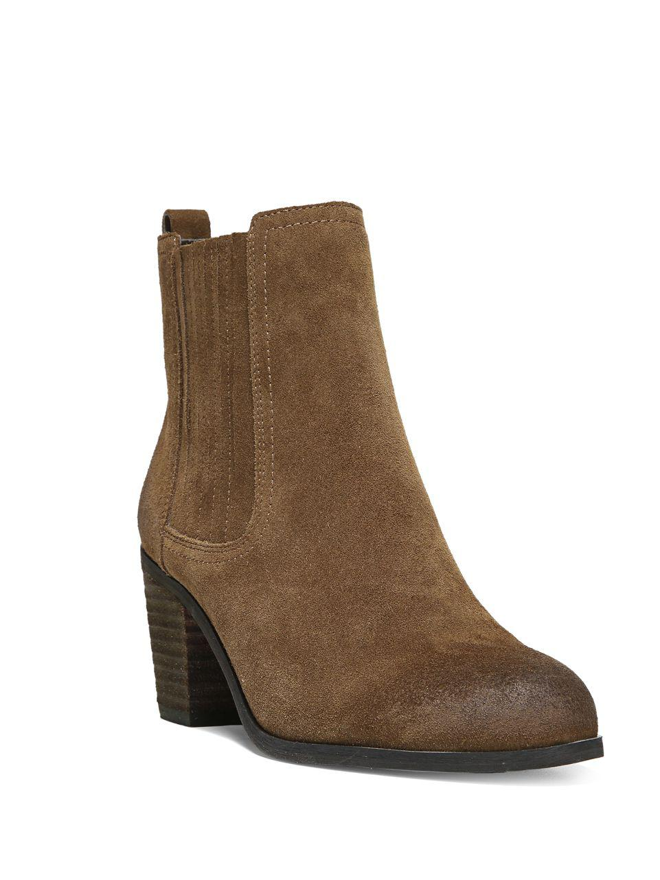 07abacae5 Lyst - Sam Edelman Lance Suede Ankle Boots in Brown