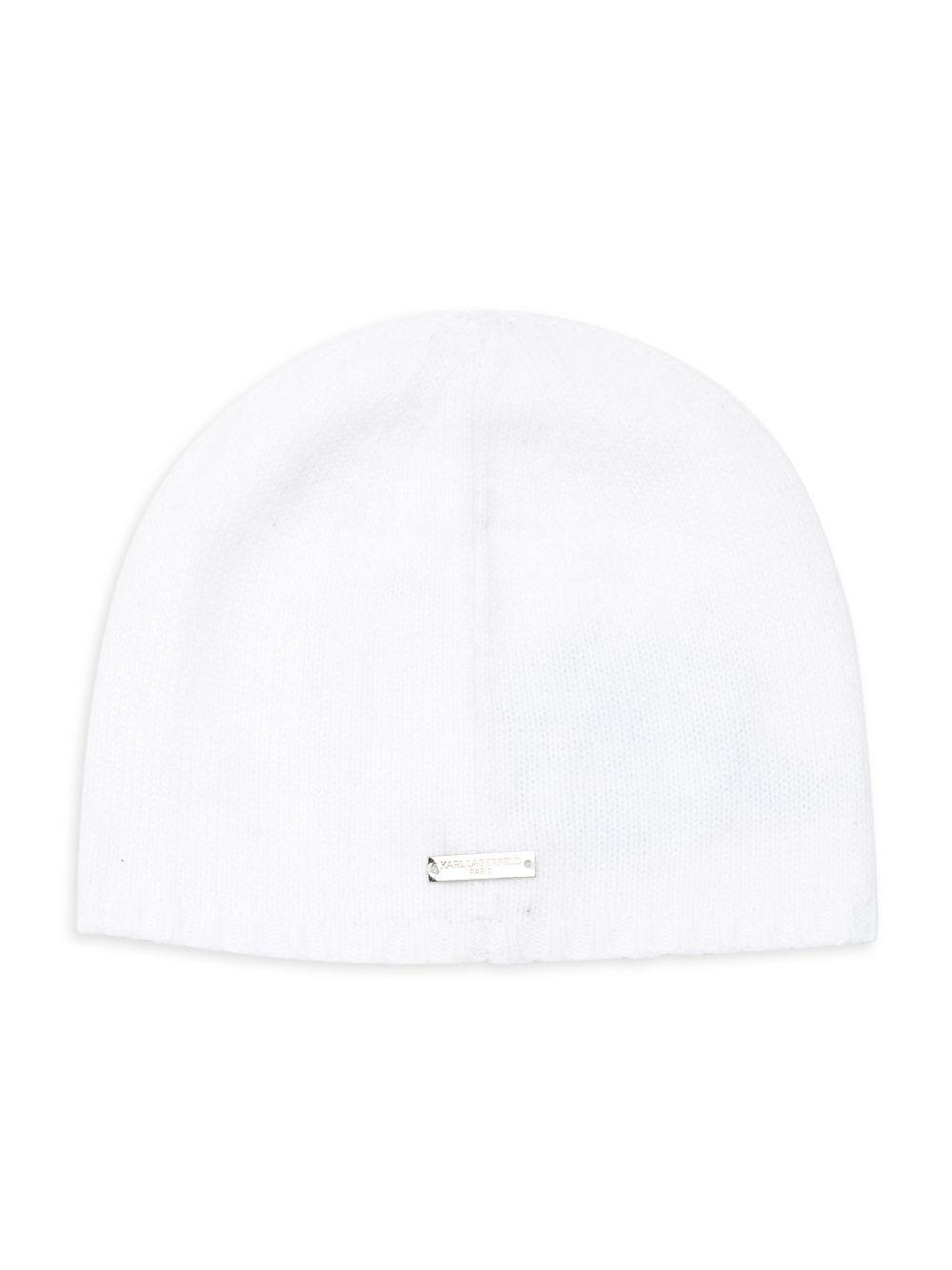 Karl Lagerfeld - White Embroidered Camellia Beanie - Lyst. View fullscreen efcaf8d2f2e8