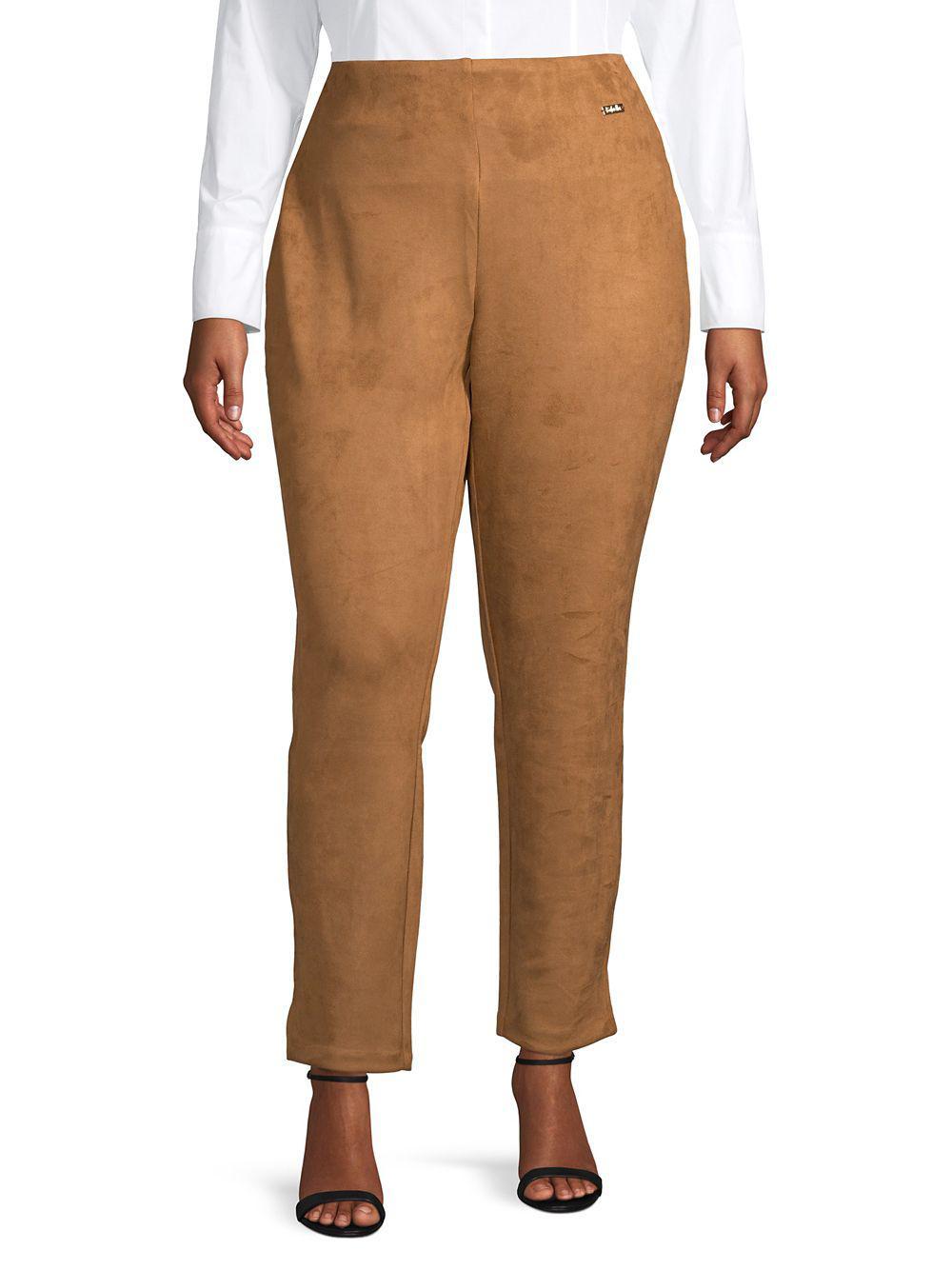 a2e39ac0e7c7e Lyst - Rafaella Plus High-waisted Skinny Pants in Brown