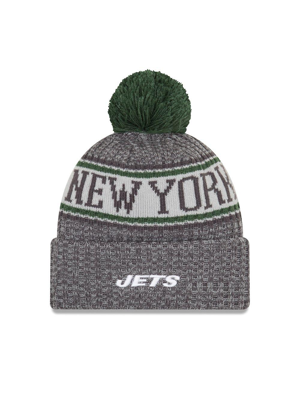 e817fd3958532 ... Nfl Sideline New York Jets Cold Weather Sports Knit Hat for Men -. View  fullscreen