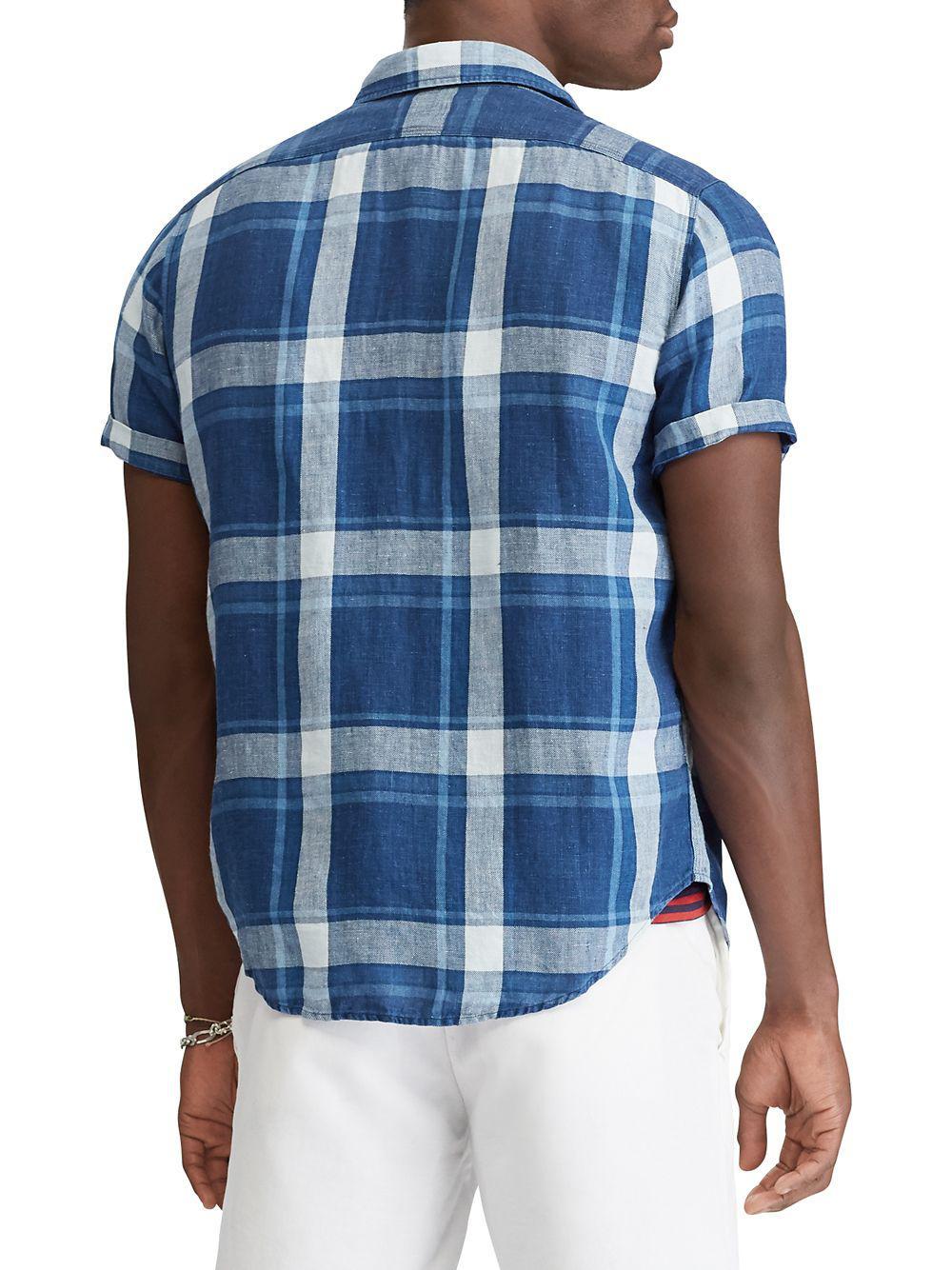 88c3f2381 ... ireland new zealand polo ralph lauren blue classic fit workshirt for men  lyst. view fullscreen