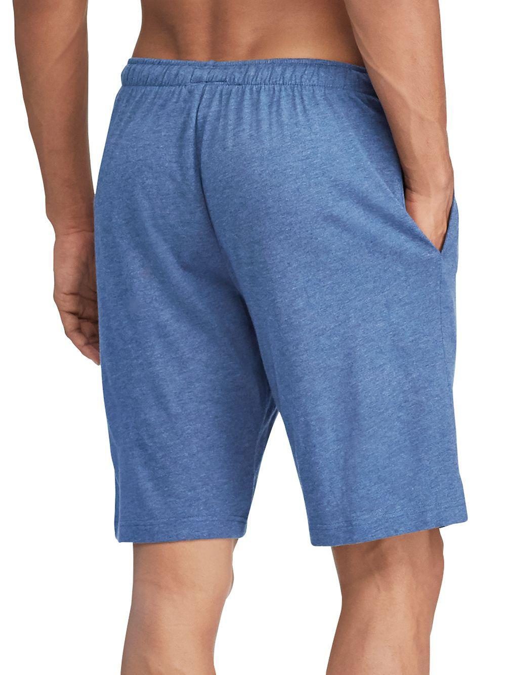 Ralph Lauren Classic Jersey Sleep Shorts in Blue for Men - Lyst b1ca4fb98