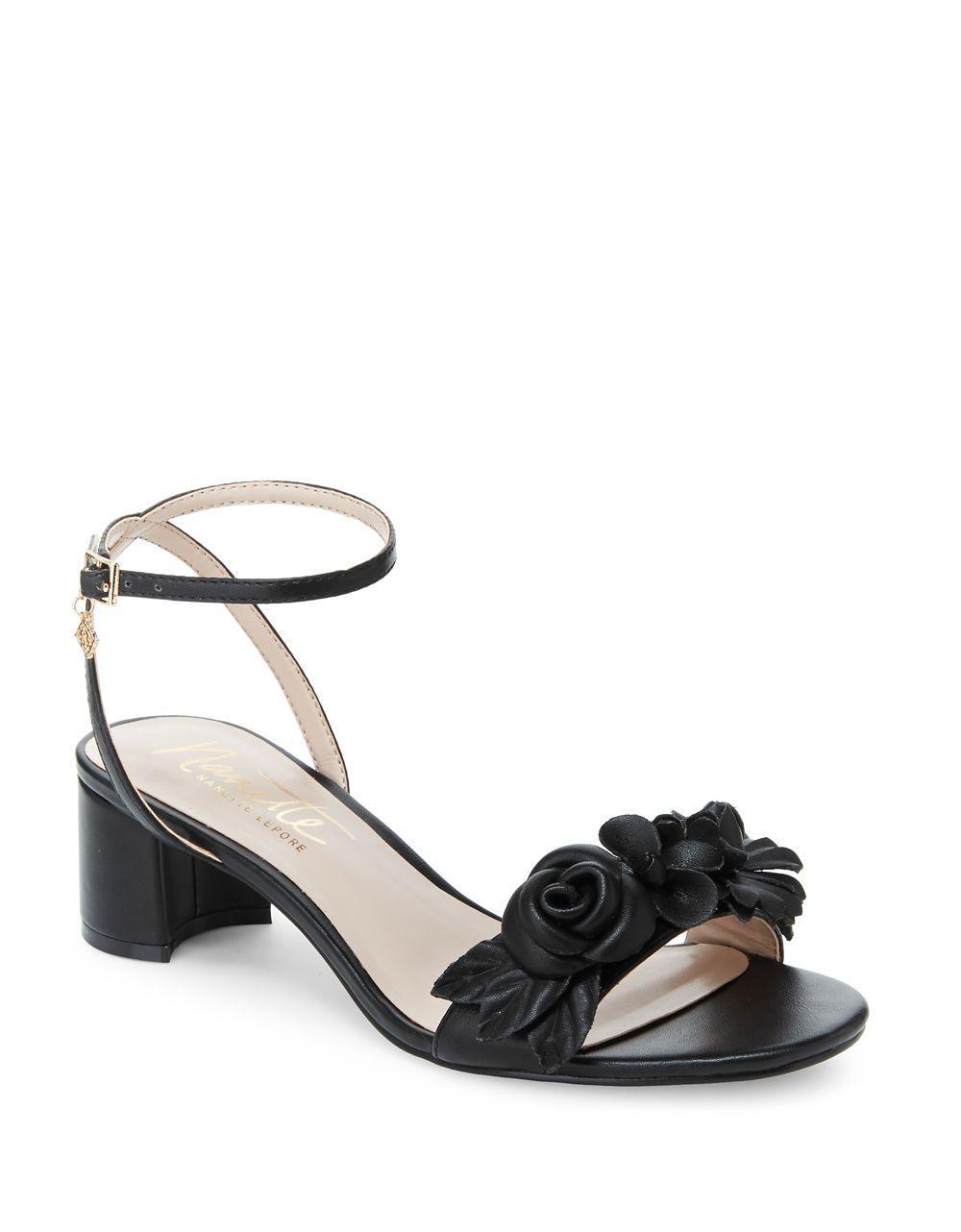 NANETTE nanette lepore Donna Ankle Strap Heeled Sandal bj2l2
