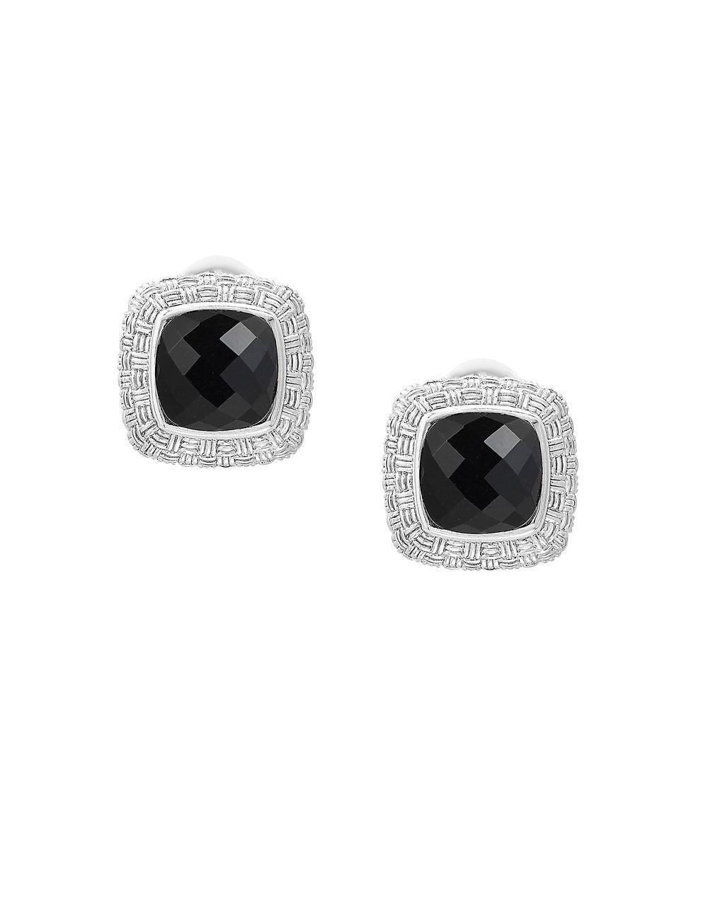 fac23d49e Effy - Black Onyx & Sterling Silver Earrings - Lyst. View fullscreen