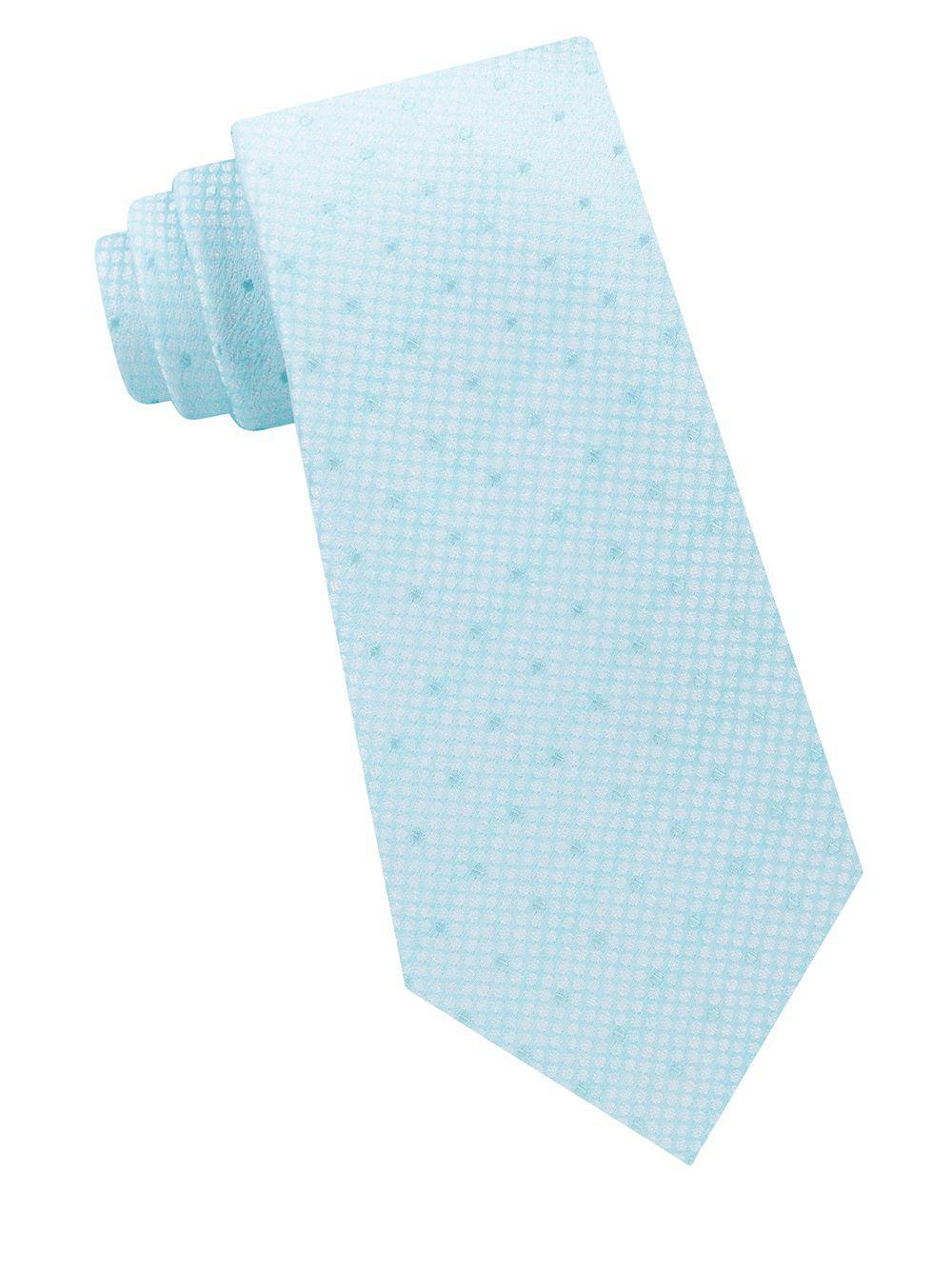 006c0d00b8ba Michael Kors Lawrence Dot Silk Tie in Green for Men - Lyst