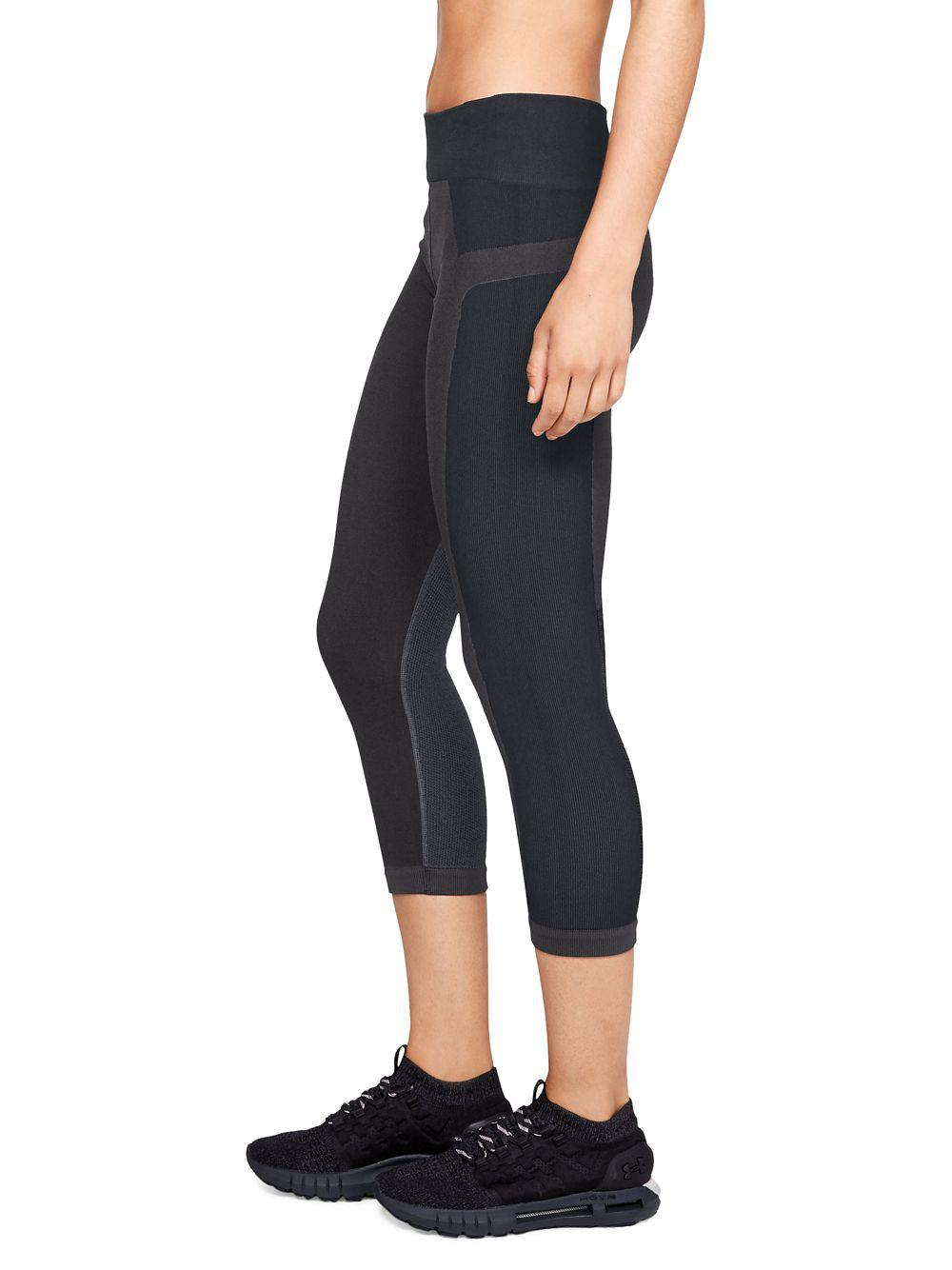 8ea798eb4a Under Armour Black Vanish Seamless Cropped Leggings
