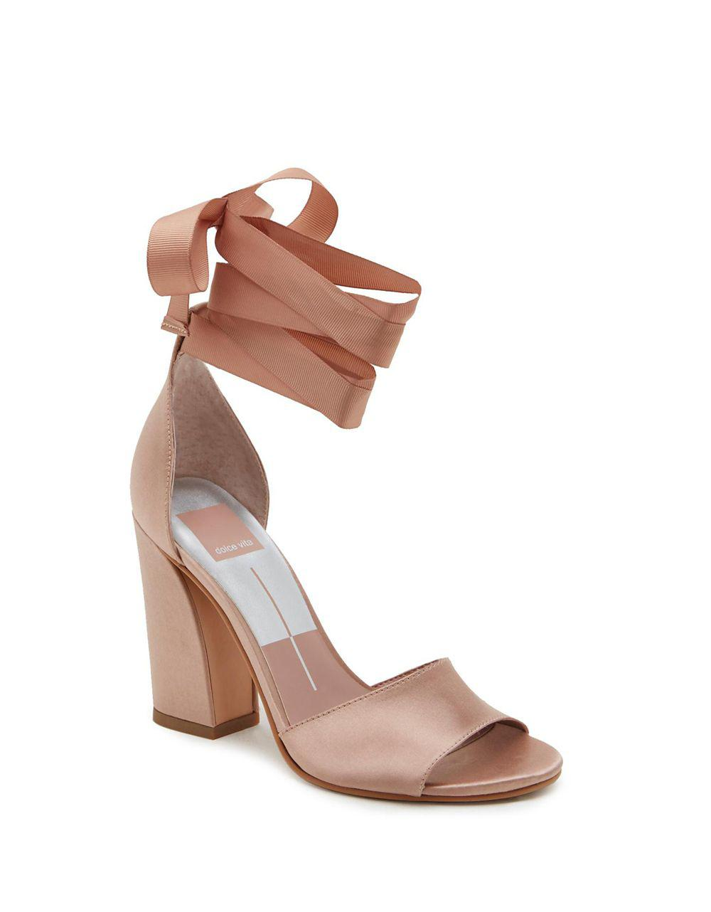a654463740d Dolce Vita Harvey Block Heel Sandals In Pink Lyst