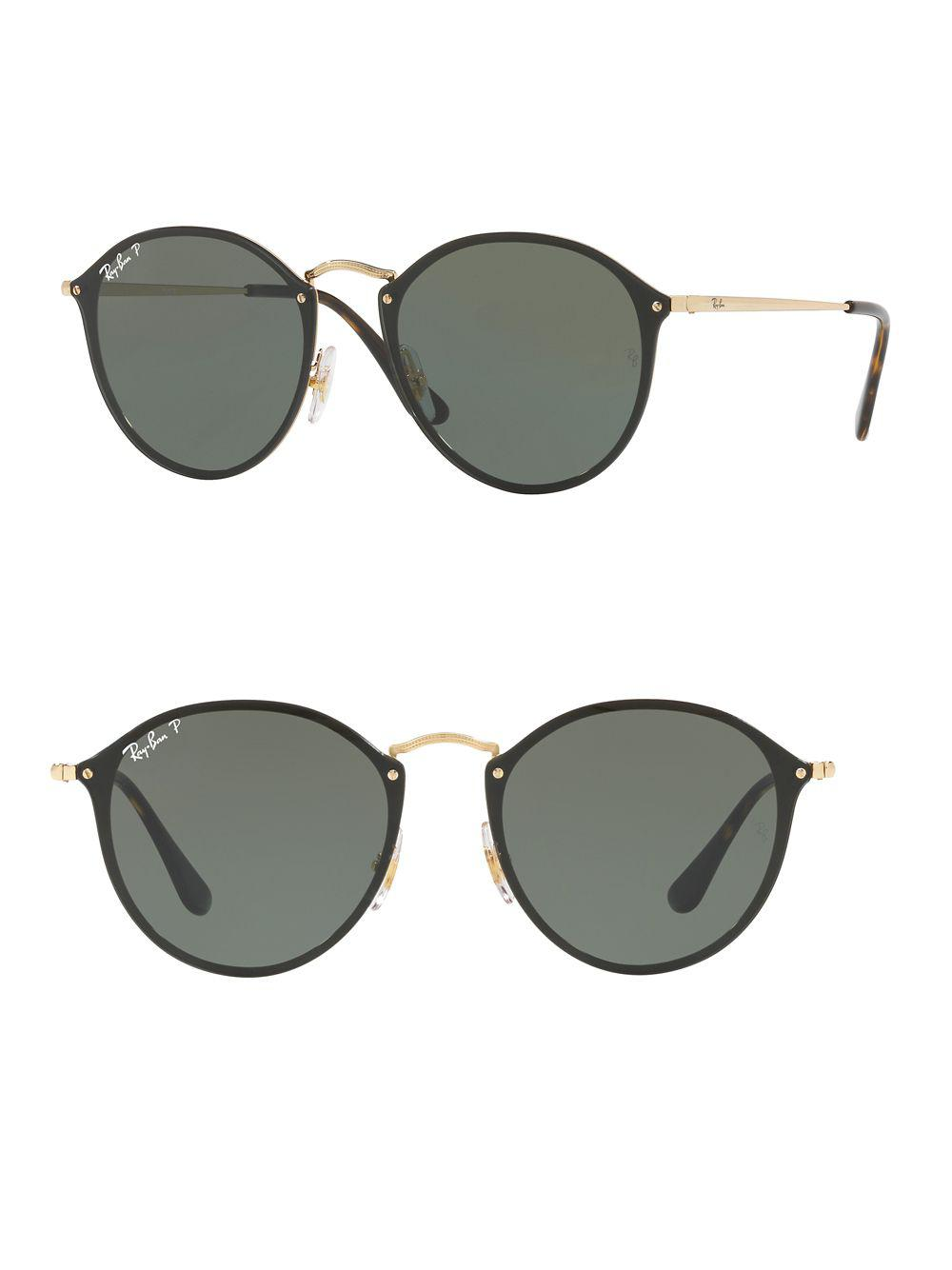 220f853764 Lyst - Ray-Ban Blaze Round Sunglasses in Metallic